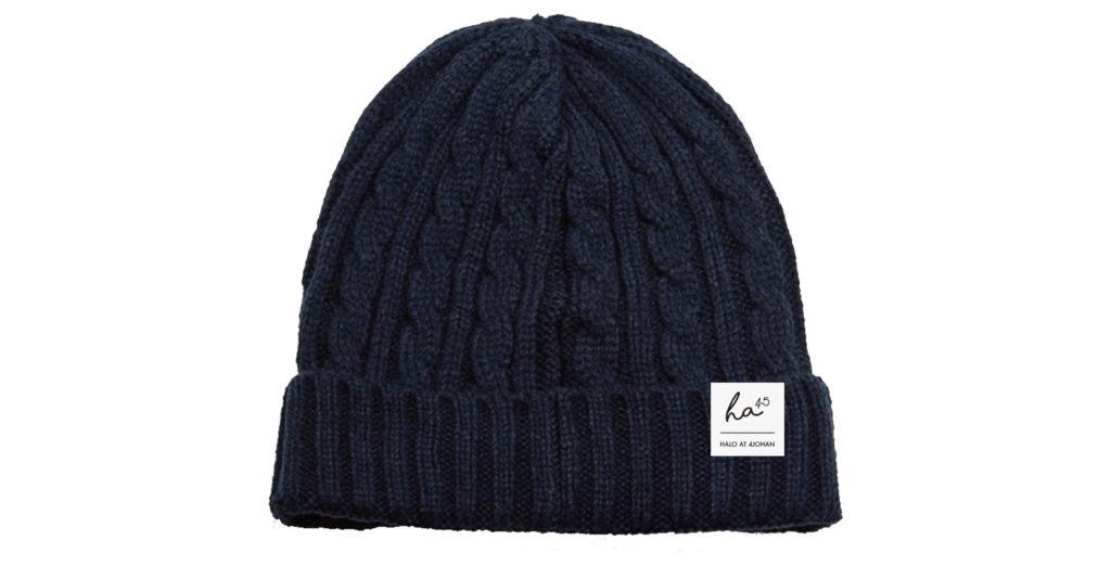ワンポイントニット帽